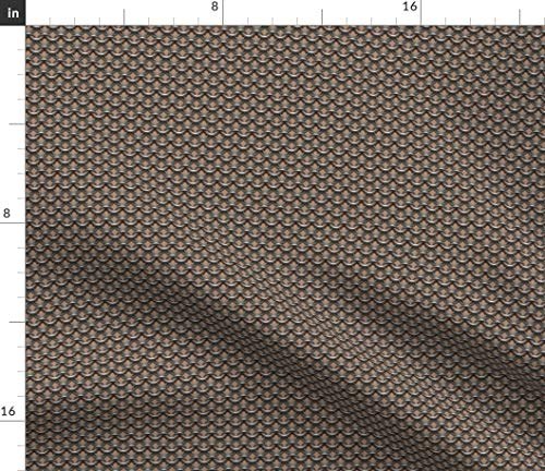 Medium Skin Tone Fabric - Knights Of The Round Ta Cosplay Chain Mail Chainmaille Medieval Armor Warrior Print on Fabric by the Yard - Organic Cotton Knit for Baby Blankets Clothing Apparel T-Shirts