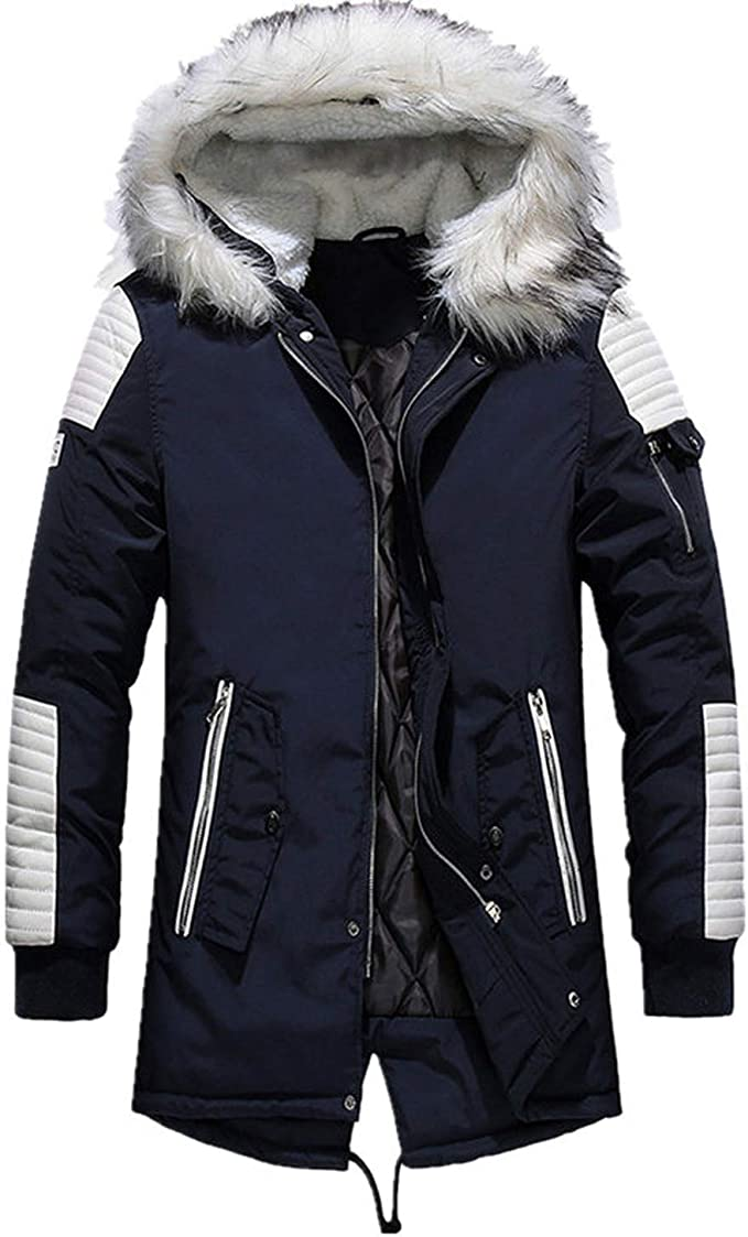 Hombres Parka Chaqueta Gruesa de algodón Invierno cálido Moda ...