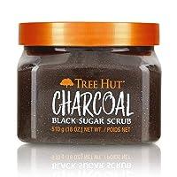 Tree Hut Charcoal Black Sugar Scrub, 18oz, Ultra Hydrating and Exfoliating Scrub...