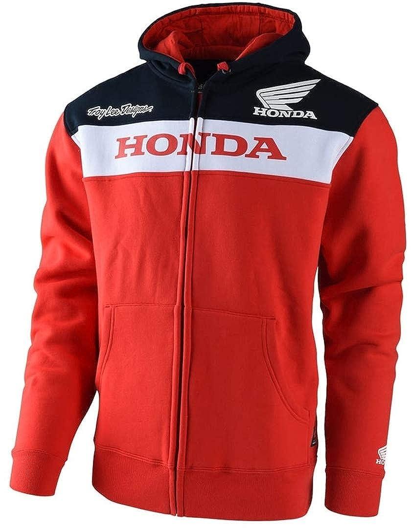 Image of Apparel Troy Lee Designs Official Licensed Honda Zip Up Fleece