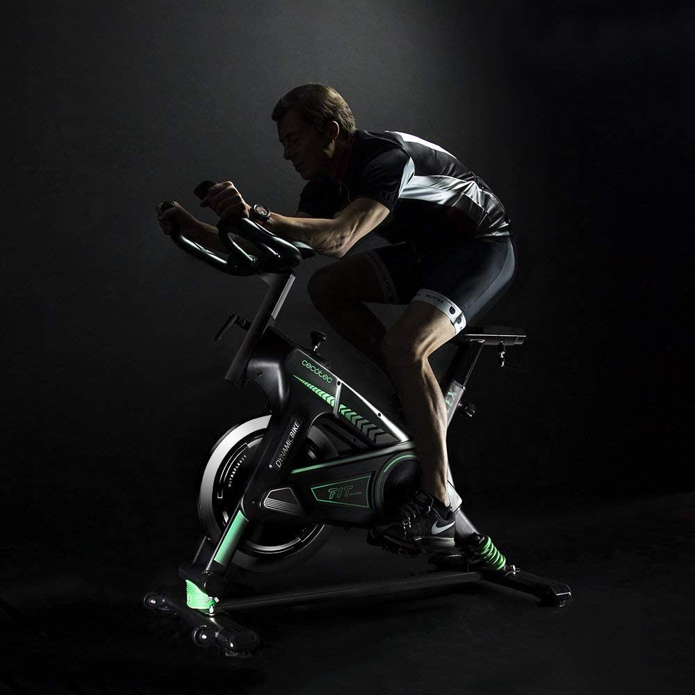 Cecotec Bicicleta de Entrenamiento Profesional dinámico com Sistema de amortiguación, Volante inercia de 25 Kg: Amazon.es: Deportes y aire libre