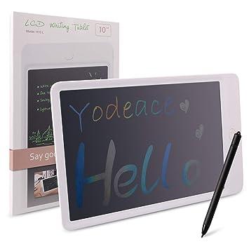 NEWYES Tableta de Escritura LCD 10,5 Pulgadas Negro la Escuela y la Oficina con Tecla de Bloqueo Imanes L/ápiz Ideal para Ni/ños y Adultos Uso en el Hogar