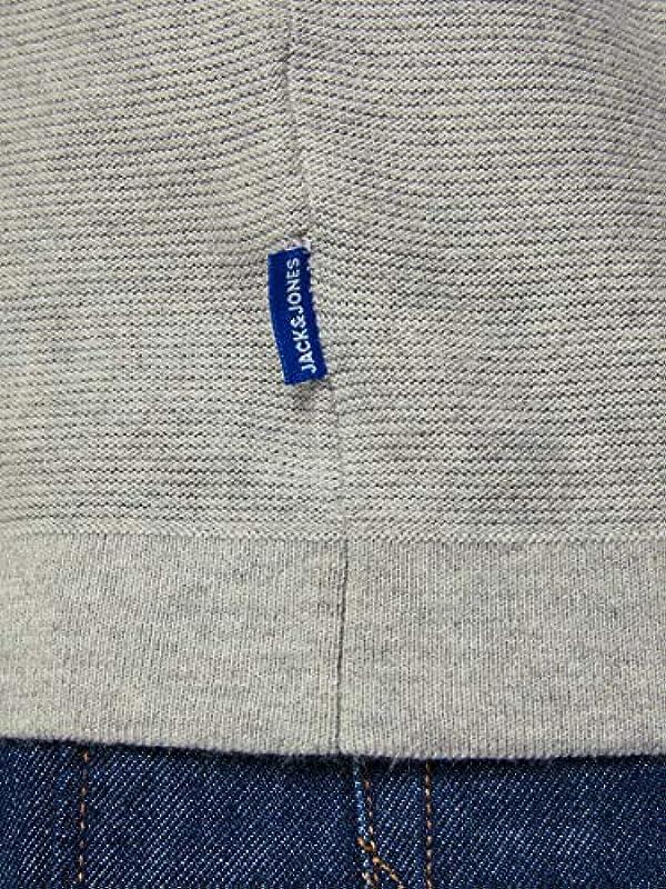 Jack&Jones sweter męski z długim rękawem niebieski morski 12167891 JORJOB Knit Crew Neck Sky Captain Knit, kolor: niebieski , rozmiar: l: Odzież