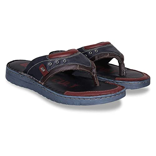 90f39e85101546 ID Men s Navy Blue Flip Flop  Buy Online at Low Prices in India ...