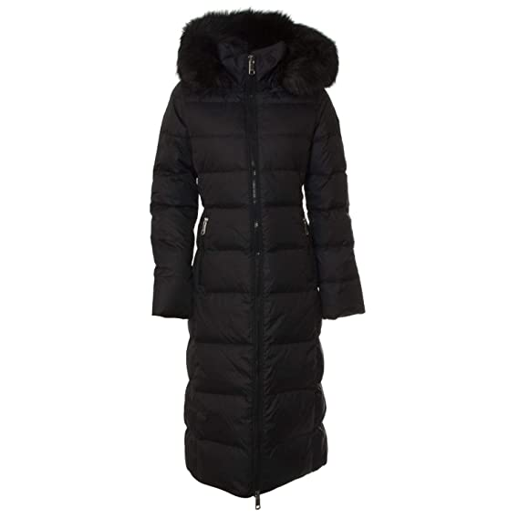 310e3cb8 Tommy Hilfiger Tyra Fitted Maxi Womens Down Jacket Small Black Beauty:  Amazon.co.uk: Clothing