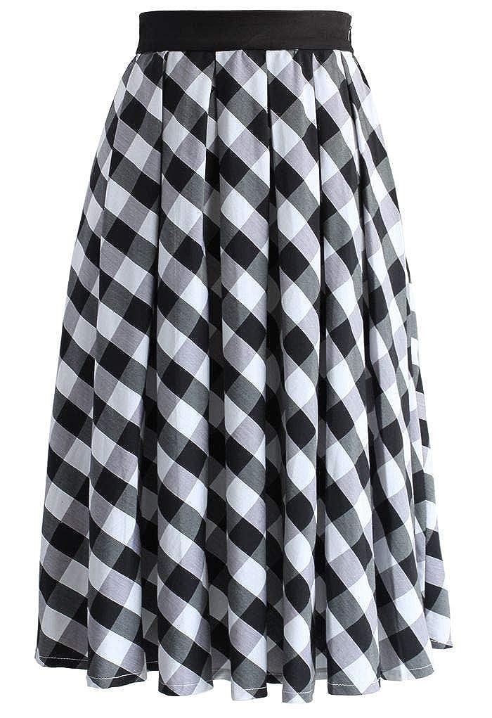 JANAK Women's Cotton Skirt (DN175, White, Medium)