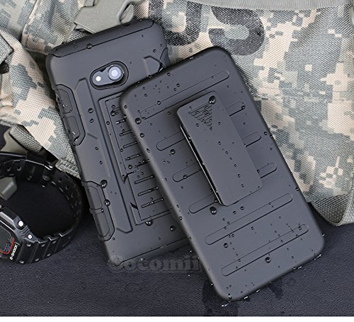 Cocomii Robot Armor Nokia Lumia 640 Case NEW [Heavy Duty] Premium Belt Clip Holster Kickstand Shockproof Hard Bumper [Military Defender] Full Body Dual Layer Rugged Cover for Nokia Lumia 640 (R.Black)