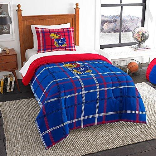 (Northwest COL 835 Sham NOR-1COL835000008BBB 64 x 86 Kansas Jayhawks NCAA Twin Comforter Set, Soft & Cozy)