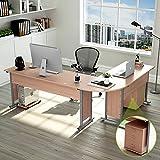 "Tribesigns Large Modern L-Shaped Desk, 87""L x 24"" D x 30""H Corner Computer Desk Study Table Workstation for Home Office Wood & Metal with Drawers, Salt Oak"
