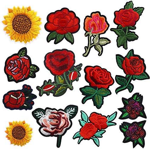 Amazon.com: 14 parches para planchar con flores, parches ...