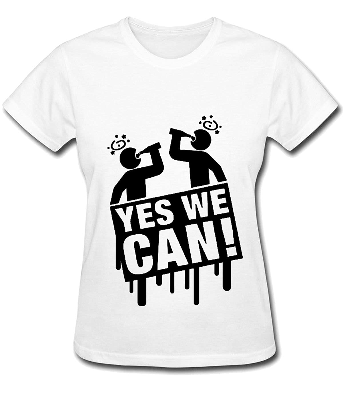 2cbad93fb152 Amazon.com  sansiwoman yes we can Tshirts for Men  Clothing