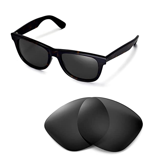 3d6467bec Walleva Replacement Lenses for Ray-Ban Wayfarer RB2140 54mm Sunglasses -  Multiple Options Available(