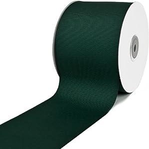 "Creative Ideas GRO3000-589 3"" Solid Grosgrain Ribbon 25 Yards, Hunter Green, 3"""