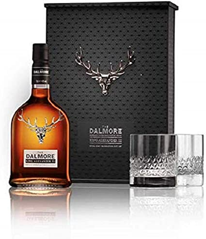 Dalmore - King Alexander III Glasses Gift Pack - Whisky: Amazon.es ...