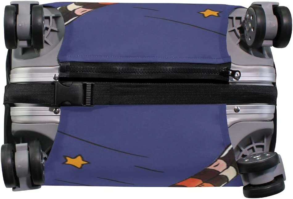 ANINILY Witch And Black Cat Travel DIY Luggage Cover Suitcase Protector Baggage Fits S18-20 in