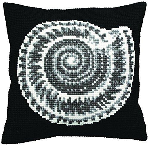 Collection D'art Ammonite Pillow Cross Stitch Kit 15 3/4'X15 3/4'