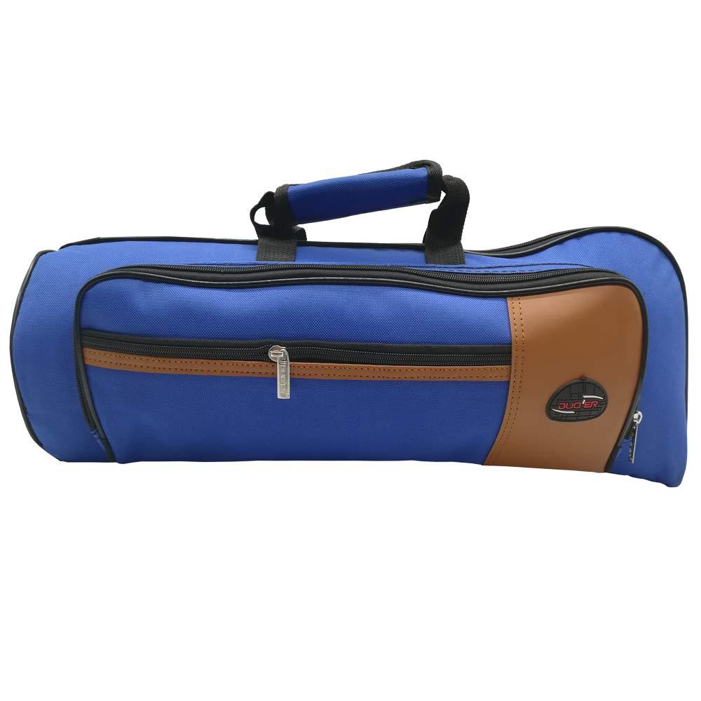 Xinlinke Trumpet Gig Bag 15mm Padded Soft Case Blue