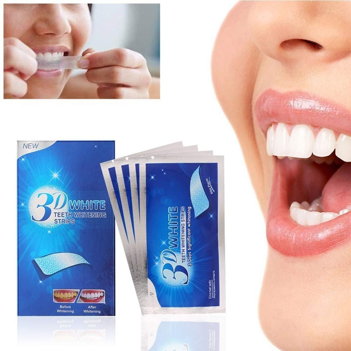 Non 28 Pezzi Strisce Sbiancanti Denti Sbiancamento Rapido Risultati Veloci Kit Sbiancamento Denti 3D
