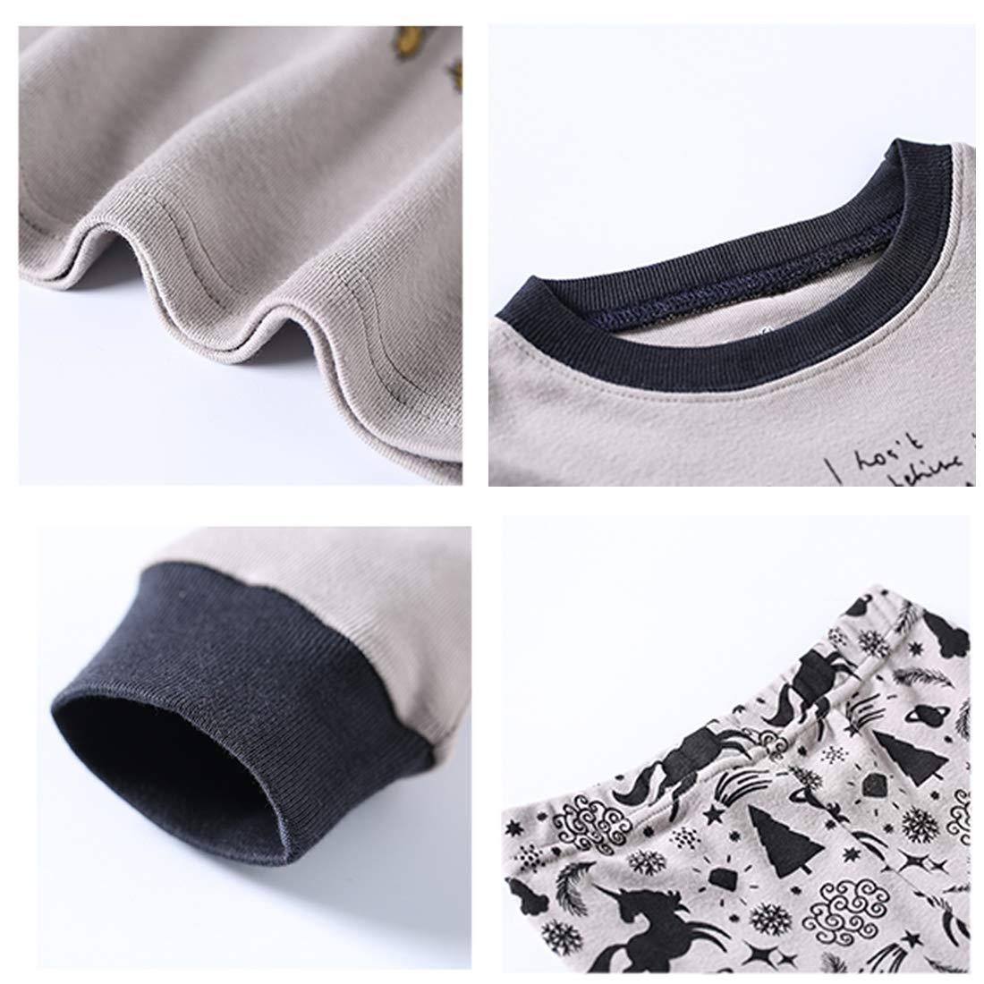 Girls Pajamas Size 2-8 Kids Clothes Set PJs Toddler 100/% Cotton Sleepwear