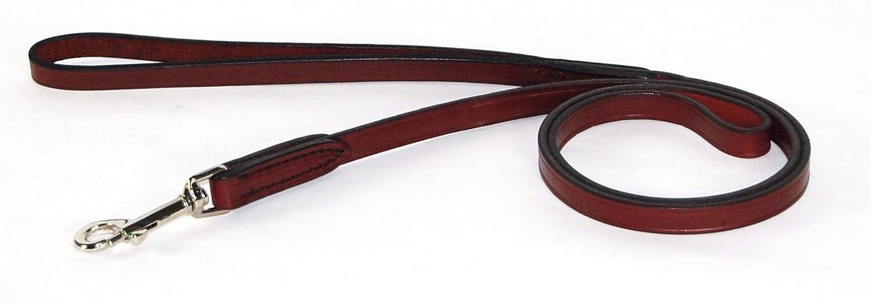 Hamilton L6601 1-Inch x 4-Feet Burgundy Leather Dog Lead