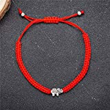 kelistom 6pcs Red String Evil Eye Charm Bracelets