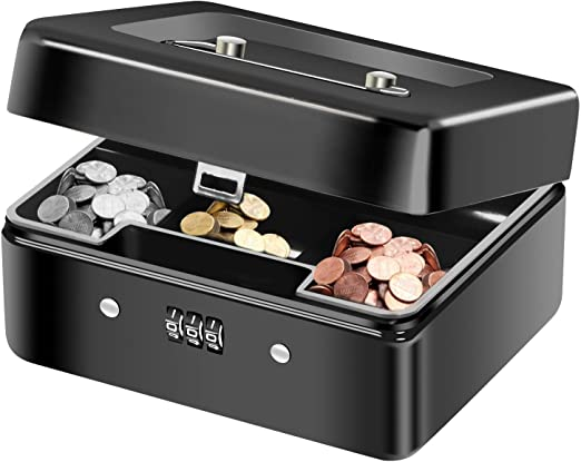 Diyife Caja de Seguridad, Caja para Dinero Caja Fuerte Portátil ...