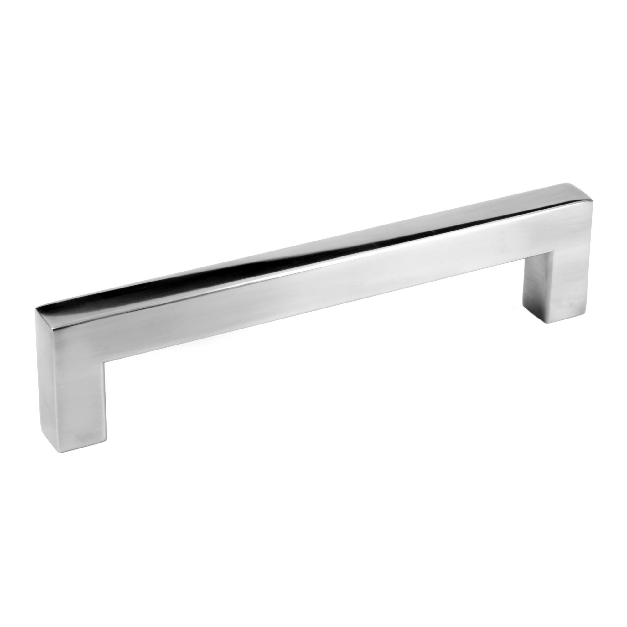 5'' Square Bar Pull Kitchen Cabinet Hardware Stainless Steel 12mm Handles (5'' Polished Chrome, 25 Pack)