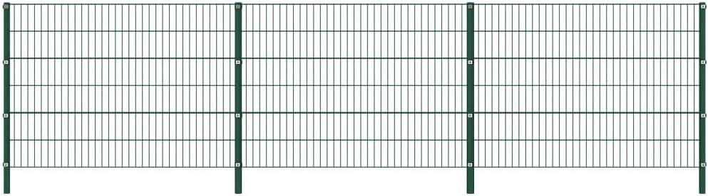 vidaXL Panel de Valla con Postes de Hierro Accesorios de Jardín Ocultación Privacidad Diseño Simple Funcional Resistente Intemperie Verde 5.1x1.2m: Amazon.es: Bricolaje y herramientas