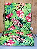 (4) Outdoor Patio Chair Cushions ~ Bahia Floral ~ 21 x 44 x 4.25NEW SHIPPING INCLUDED