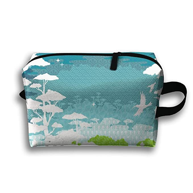 cf684627e8a1 Amazon.com  Women s Toiletry Bag Multifunctional Cosmetic Bags Rainforest  City Portable Makeup Pouch Waterproof Travel Hanging Organizer  Clothing