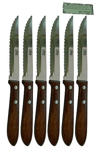 Cuchillos de mesa Madera Celaya Sierra Lote 6 Uds.: Amazon.es ...