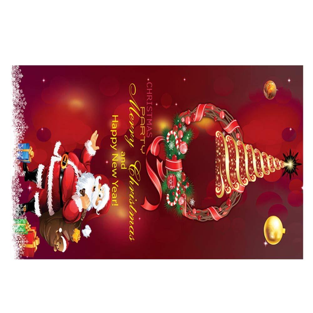 Quelife Merry Christmas Welcome Doormats Indoor Home Carpets Decor 40x60CM G