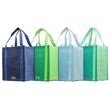 Gráfico patrón impresiones - reutilizable bolsa de transporte reforzada conjuntos: Amazon.es: Hogar