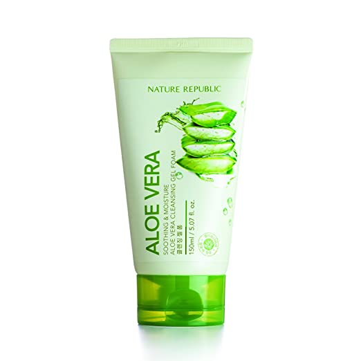 Nature Republic Soothing and Moisture Aloe Vera Cleansing Gel Foam, 150 ml