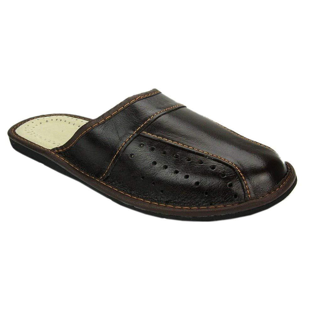Mens House SlippersGenuine Leather