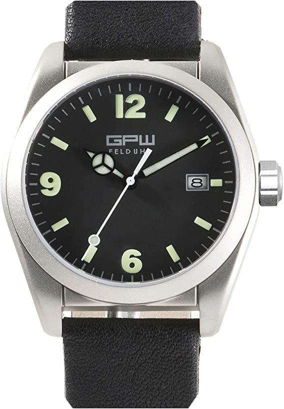 German Military Titanium Fieldwatch GPW. Automatic Movement. 200M W/R. Domed Sapphire Crystal.