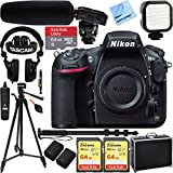 Nikon D810 36.3MP DSLR Camera - Body Only w/Tascam DSLR Audio Recorder and Shotgun Microphone + 128GB & 64GB Pro Video Bundle