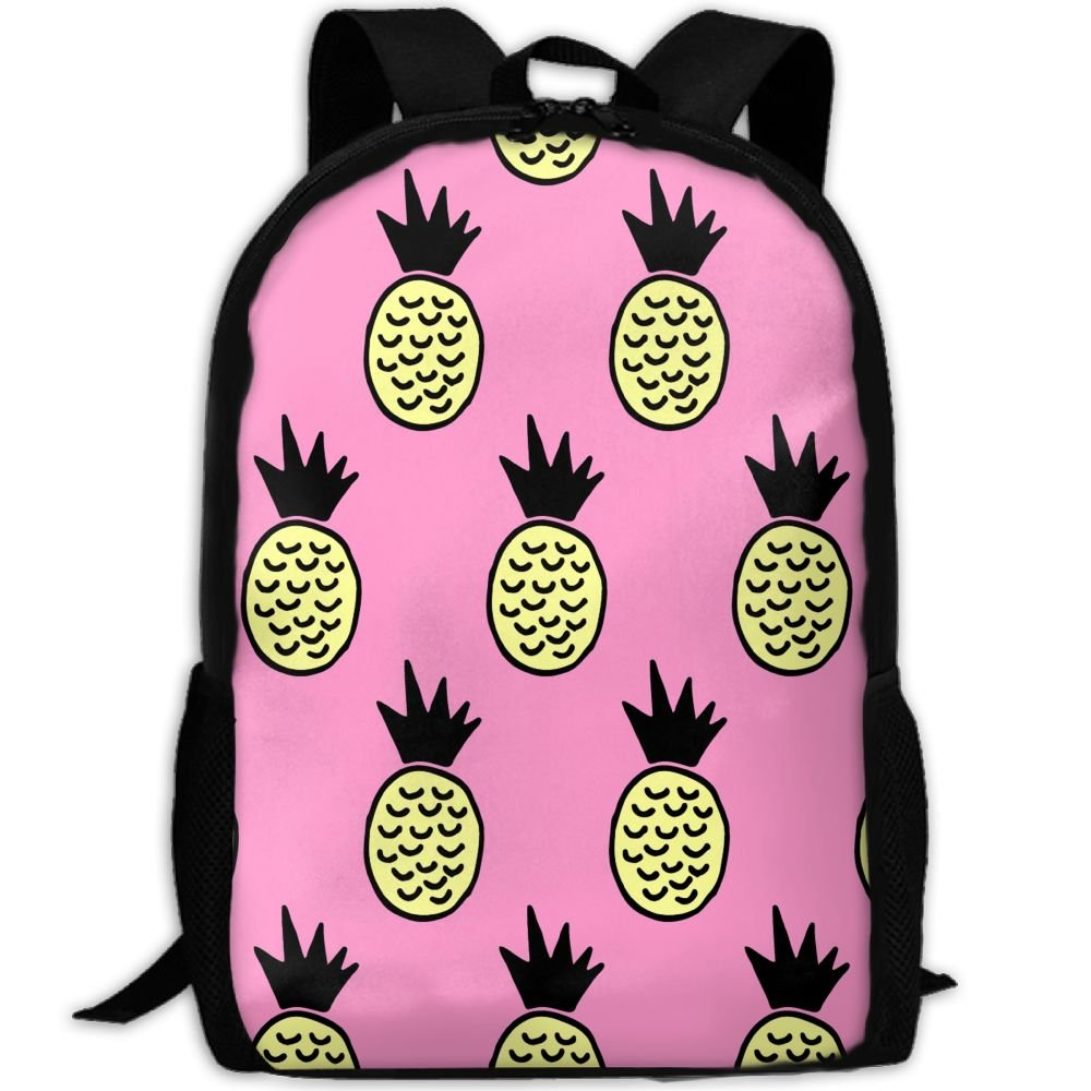 SZYYMM Personalized Yellow Pineapple Oxford Cloth Fashion Backpack,Travel/Outdoor Sports/Camping/School, Adjustable Shoulder Strap Storage Backpack For Women And Men 30%OFF