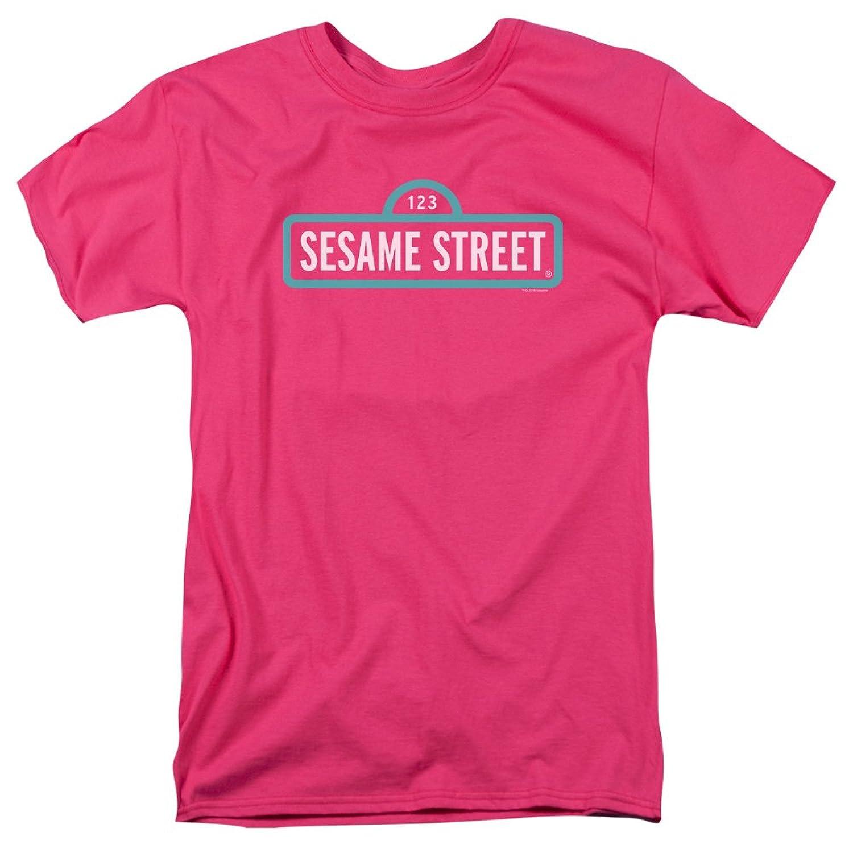 Sesame Street Classic Children's TV Show Alt Logo Adult T-Shirt Tee