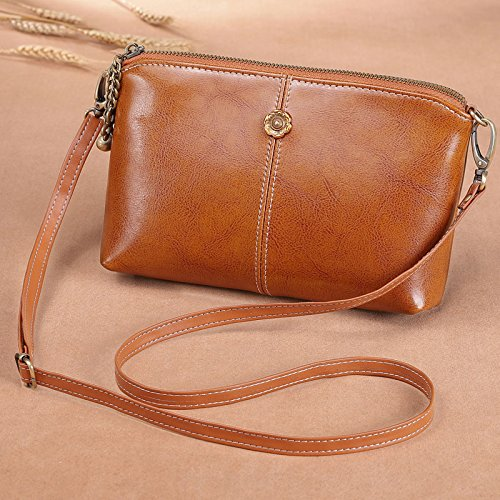 A Tracolla Mini Mano Edition Borsetta Borsa Color Rosso Vino Caramel Bag grande Crossbody Guangming77 064Iq4
