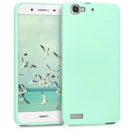 kwmobile TPU Silicone Case for Huawei GR3 / P8 Lite Smart - Soft Flexible Shock Absorbent Protective Phone Cover - Mint Matte