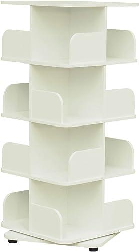 Pilaster Designs Hartwick 4 Tier Revolving Bookcase Tower Display Unit