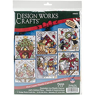 "Design Works Crafts Home for Christmas Cross Stitch Ornament Kit, 3-1/2"" x 4"""