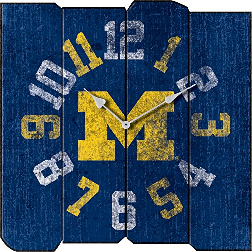 Imperial Officially Licensed NCAA Merchandise: Vintage Square Clock, Michigan Wolverines (Clock Michigan Wolverines)