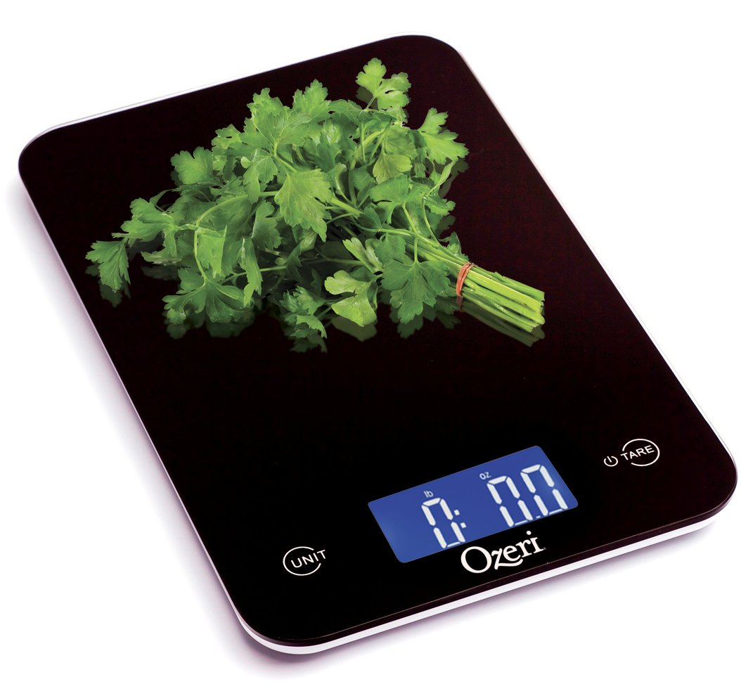 Amazon scale bathroom - Amazon Com Ozeri Touch Professional Digital Kitchen Scale 12 Lbs Edition Tempered Glass In Elegant Black Food Scale Kitchen Dining