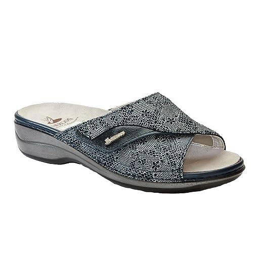 Hergos H 160 azul Astrid Nappaflex - calzatura ergonómico para juanetes - Piel auténtica Azul Size: 37: Amazon.es: Zapatos y complementos