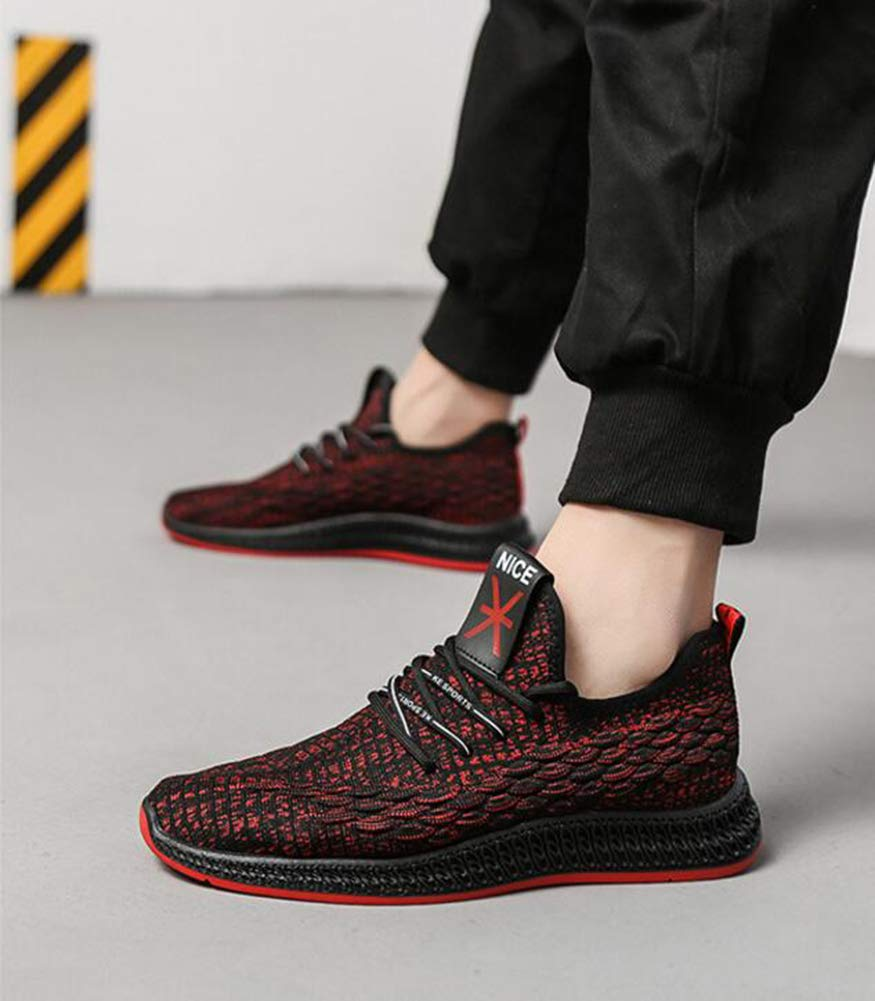 WYX 2019 2019 WYX Herrenschuhe, Komfortschuhe Knit Frühling Turnschuhe Breathable Lace up Running schuhe Mens Athletic Footwear,A,44 dd88d5