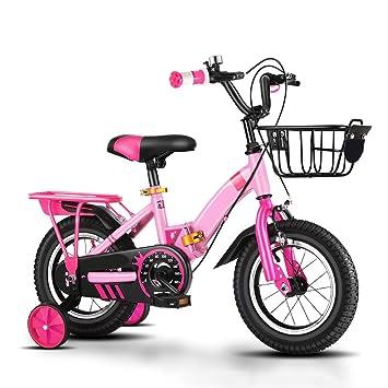 XBNH Bicicleta para Niños 12/14/16/18 Pulgadas Bicicleta De Montaña para Niños Al Aire Libre con Bicicleta Plegable Rueda De Entrenamiento (Tamaño: 12 ...