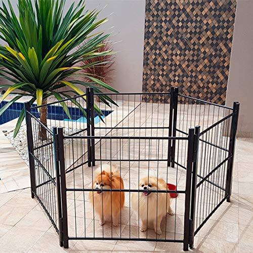 Cercado Casinha Cachorro Pet Filhotes Cão 6/80cm Com Portão Branco
