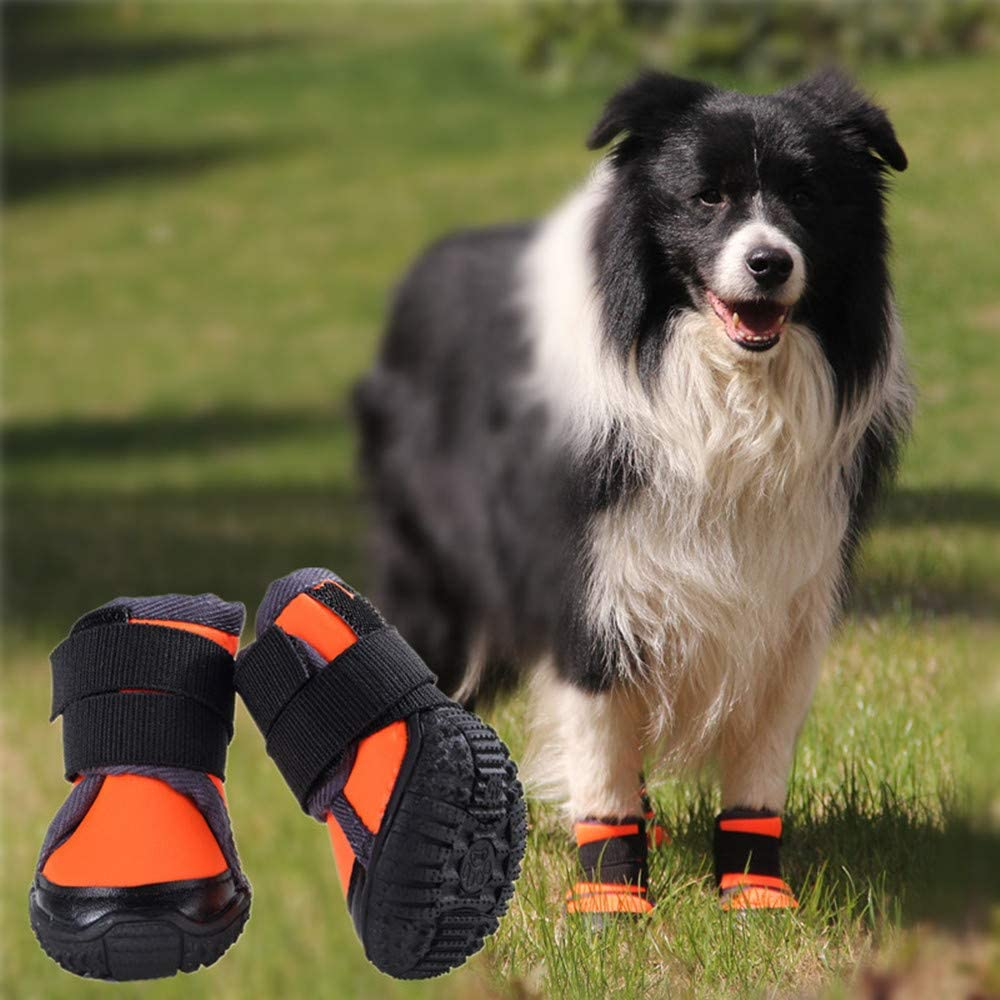 Petilleur Breathable Dog Hiking Shoes for Hot /& Sharp Pavement Pet Paws Protector Anti-Skid Dog Boots Durable Pet Hiking Shoes for Outdoor Activities
